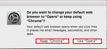 Change web browser