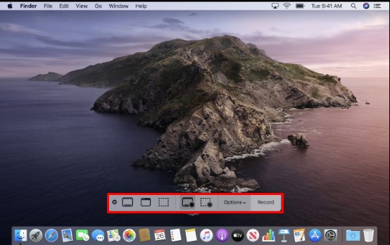 Control bar on macOS
