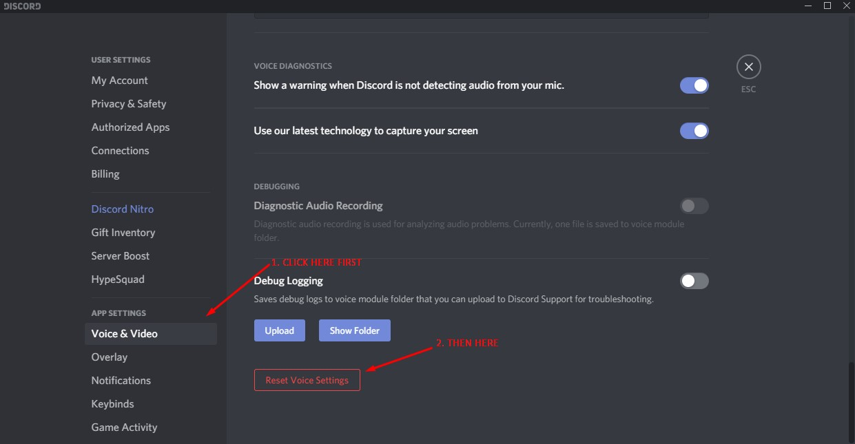 Discord Settings Tab