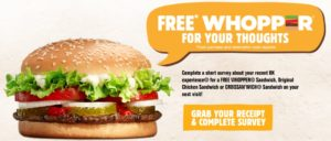 Burger Free Whopper for Your Thoughts