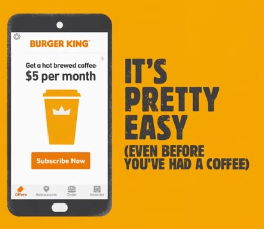 Burger King Cafe Subscription